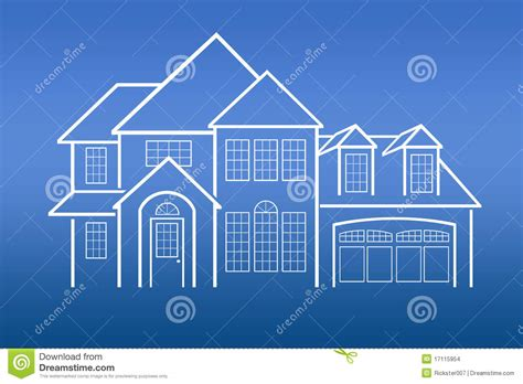 house prints house blue prints stock images image 17115954