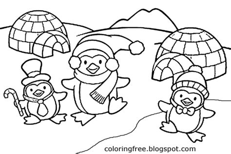penguin igloo coloring page free coloring pages printable pictures to color kids