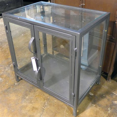 metal and glass cabinet industrial metal and glass cabinet nadeau chicago