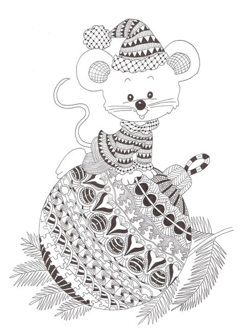 christmas zentangle coloring page zentangle made by mariska den boer 76 kerst pinterest
