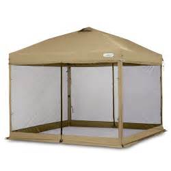 First Up Gazebo With Screen Walls by First Up Screen Curtain Tan Walmart Com