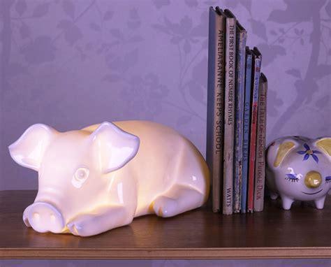 pig lamp white rabbit england childrens lighting kids
