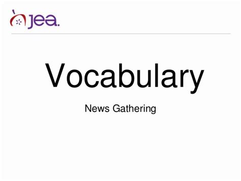 Journalism Vocabulary by Vocabulary For High School Journalism