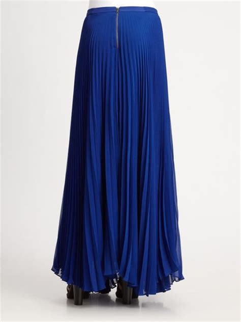 shannon silk maxi skirt in blue cobalt lyst