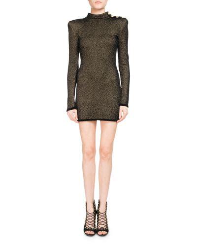 Mock Neck Sleeve Knit Dress back zip knit dress bergdorfgoodman