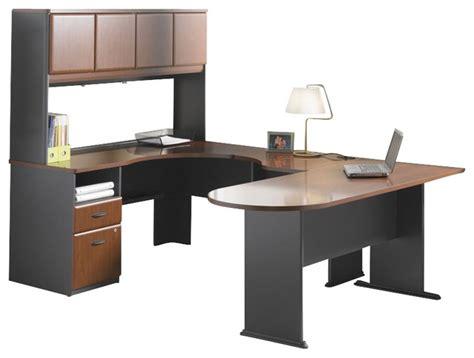 Cherry Wood Corner Desk Bush Series A 4 Wood Corner Computer Desk In Hansen Cherry Transitional Desks And