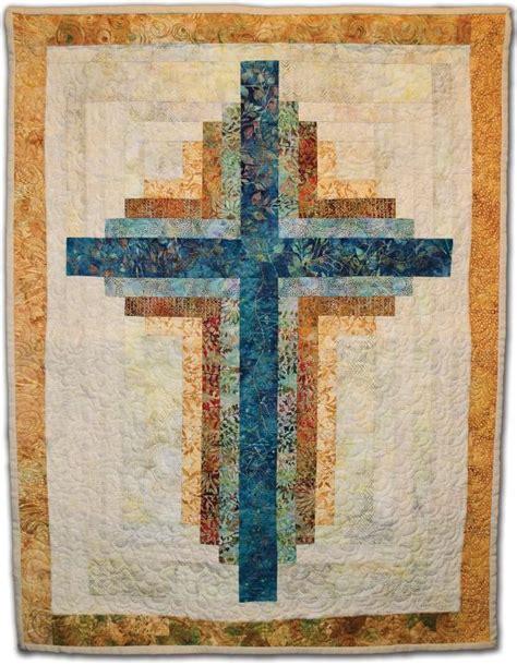 quilt pattern cross small log cabin cross wallhanging by karen wood craigie