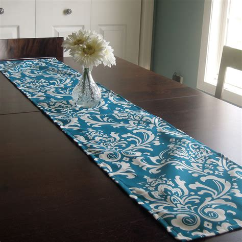12x60 table runner damask modern contemporary by thefarley4