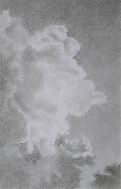 draw perfect luminous clouds  graphite pencils