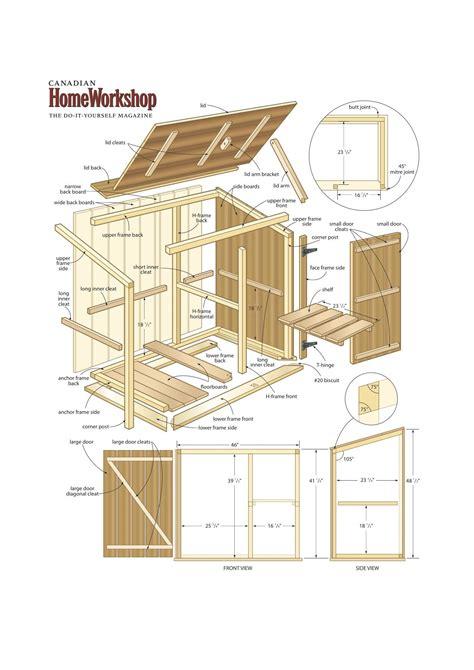 storage bin woodworking plans
