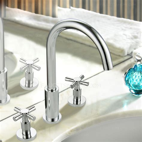 Vintage Two Cross Handle Split Style Bathroom Sink Faucet