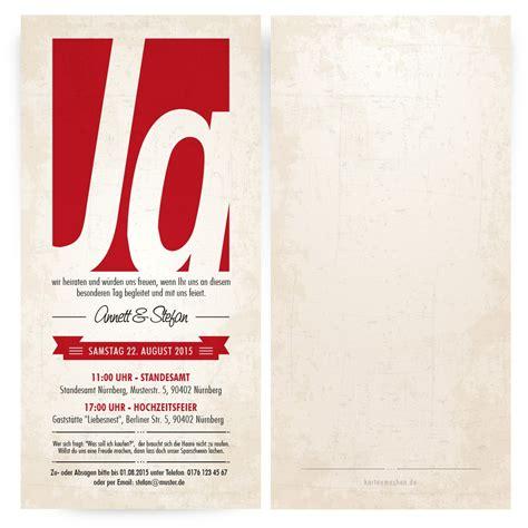 Hochzeitskarten Rot by Einladungskarten Zur Hochzeit Monochrom Rot Bestellen