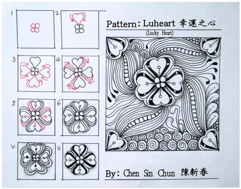 zentangle pattern directions luheart zentangle doodles how to tangle pattern tutorial