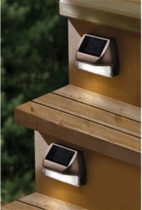 Solar Lights For Deck Stairs Moonrays Solar Mini Deck Step Light Contemporary Stair