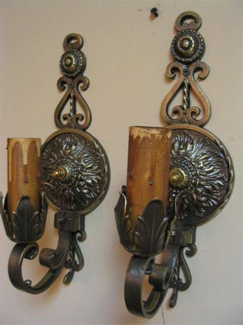 Vintage Sconces For Sale vintage pair brass wall sconces for sale antiques classifieds