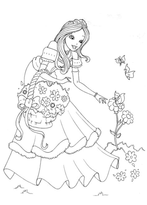free indian princess coloring pages