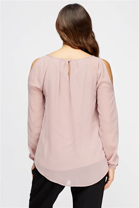 Blouse Out Sholder cut out shoulder blouse just 163 5