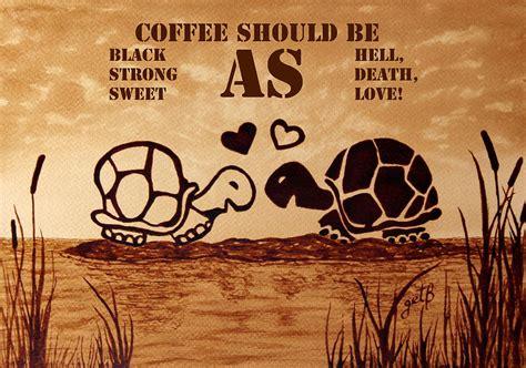 Coffee Lo Ver Totebag coffee reminder painting by georgeta blanaru