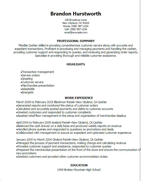 1 cashier resume templates try them now myperfectresume