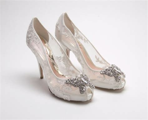 comfortable wedding shoes ivory aruna seth ivory lace with silver detail heel 110mm
