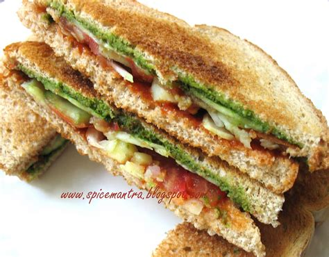 Toast Sandwich Treat Your Tongue Indian Version Of Vegetable Vegan