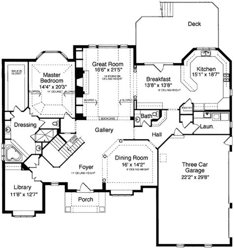 foyer house plans grand foyer design 39097st 1st floor master suite