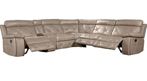 cindy crawford sectional leather wilshire place gray leather 6 pc sectional contemporary