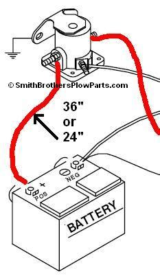 power wire battery to solenoid 24 quot
