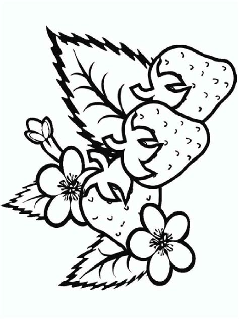 strawberry coloring pages download and print strawberry