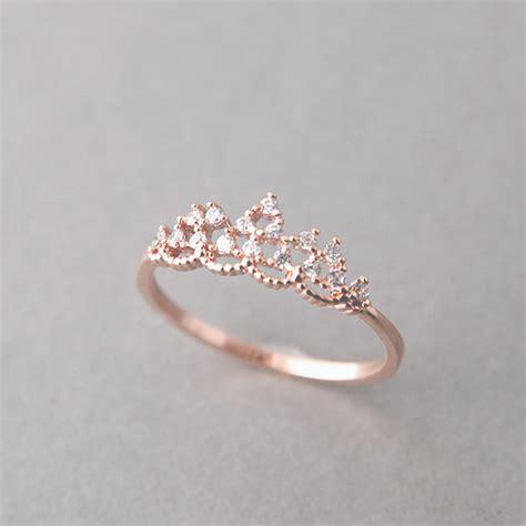 cz princess tiara ring gold kellinsilver