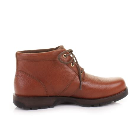 mens rockport bombay brown waterproof leather chukka ankle