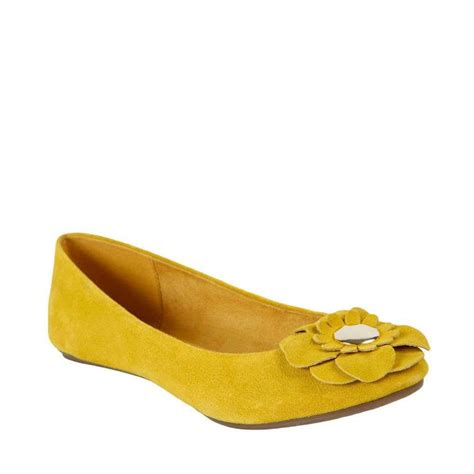 flat yellow shoes yellow flower adorned flats s shoes