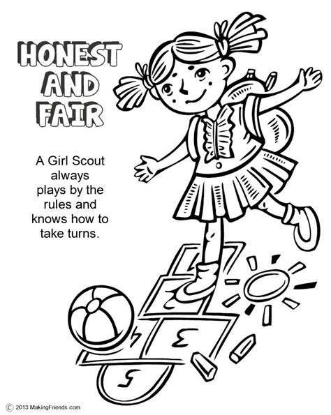 the law honest and fair coloring page