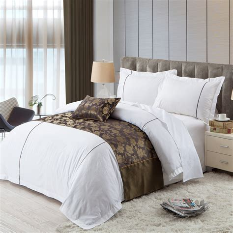 King Size White Duvet Cover Set White Hotel Bedding Set King Size Jacquard Duvet