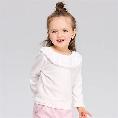 Blouse Vaby baby white blouse 80 120cm cotton school blouse for shirts