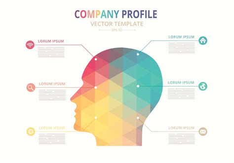 template for a company profile free vector company profile template free