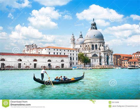 Mediterranean House Plans At gondola on canal grande with basilica di santa maria della