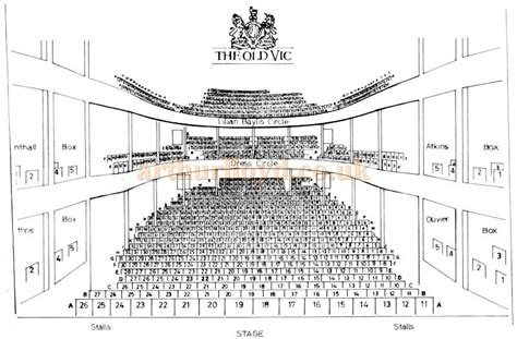 Waterloo Floor Plan the old vic theatre the cut london se1