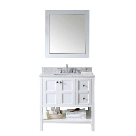 Vanity In Italian by Virtu Usa Winterfell 36 In Vanity In White With Marble