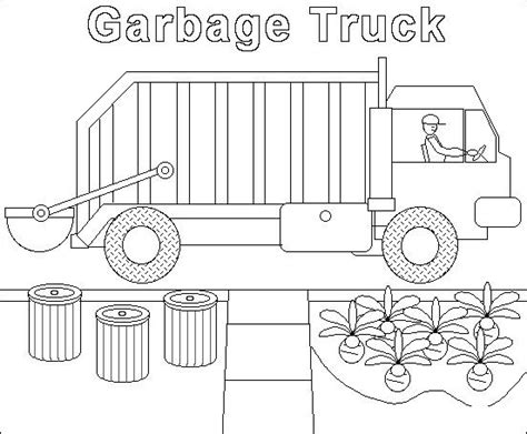 coloring pages of garbage trucks garbage truck worksheets coloring pages 9 171 funnycrafts