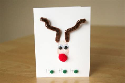 reindeer cards to make rudolph the nose reindeer thumbprint cards make and