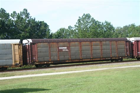 Auto Rack by Norfolk Southern Auto Rack With Heavy Weathering Bolougne Florida October 21 2007