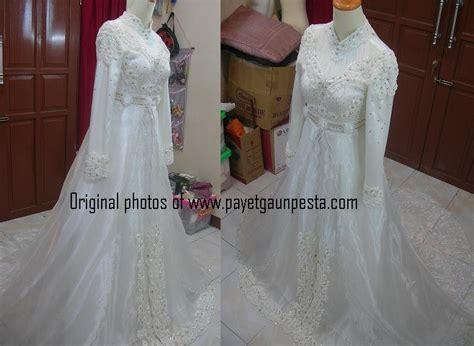 Baju Muslim Elegan Broken White Mst781 1 payet gaun pesta desain baju pesta kebaya modern dan gaun pengantin model gaun pengantin