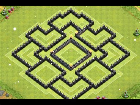 layout coc th8 clash of clans epic th8 farming base layout speed build
