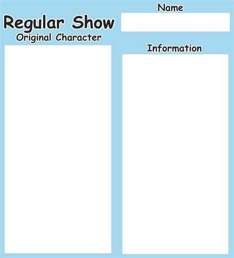 original template template regular show original character by arieann