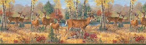 whitetail deer bathroom accessories deer wallpaper border