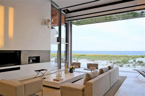 Beach House on Long Island   Beach Style   Living Room