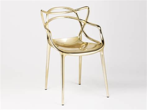 Chrome Dining Room Chairs Buy The Kartell Masters Chair Metallic At Nest Co Uk