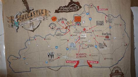 map kentucky bourbon trail a peek inside the kentucky bourbon lodge at forecastle a