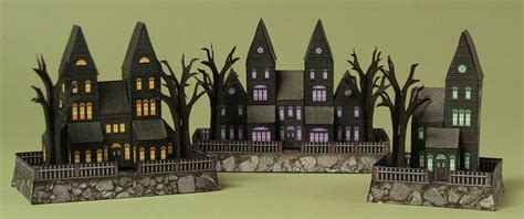printable haunted house paper mini haunted house paper models free templates download